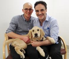 Noel Fitzpatrick with Murphy and Tim.