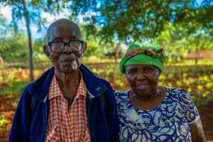 Mwamkono who lost his grandfather in WW1 and his wife in their garden.